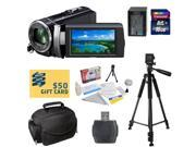 Sony HDR-PJ210 Digital HD Camcorder with Best Value Accessory Kit - Includes 16GB High-Speed SDHC Memory Card + Card Reader + Replacement FV100 4200MAH Li-ion B