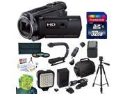 Sony HDR-PJ650 HD Camcorder / Projector with Must Have Accessory Kit Includes 32GB High-Speed Error-Free SDHC Memory Card + SDHC Card Reader + 58MM 3 Piece Pro