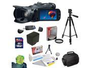 """Canon VIXIA HF G30 HD Camcorder with HD CMOS 32GB Internal Flash Memory plus 16GB SDHC Card, Card Reader, 58MM HD UV Filter, Extra Battery, 54"""" Tripod, Padded Carrying Case, Cleaning Kit, More"""