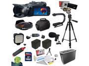 Canon VIXIA HF G30 HD Camcorder with HD CMOS Pro/32GB Internal Flash Memory with 64GB SDXC Card, 5 PC Filter Kit, 0.3X Fisheye Lens, 2 Batteries, Charger, X-GRIP, LED Light, Microphone and more