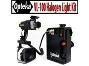 Opteka VL-100 100-Watt Professional Halogen Camcorder Video Light Kit with 12v Rechargeable Battery Pack for Sony NEX-VG10, AX200, FX1000, FX7, FX1, PD150, VX20