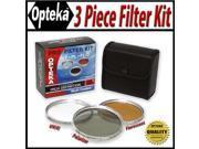 Opteka HDA 3 Piece (UV, PL, FL) Filter Kit for JVC GR-D796, GR-D770, GR-D750, GR-DA30, & GR-DA30US Digital Camcorders