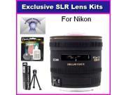 Sigma 4.5mm f/2.8 EX DC HSM Circular Fisheye Lens with 7 Year Warranty + Extras For NIKON D7100, D7000, D5200, D5100, D3200, D3100, D3000, D800, D700, D600, D30