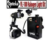 Opteka VL-100 100-Watt Professional Halogen Camcorder Video Light Kit with 12v Rechargeable Battery Pack with the SA-S Adapter for Sony Active Interface Hot Sho