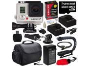 GoPro HD Hero3+ Hero 3+ Silver Edition (CHDHN302) with 32GB MicroSD, (2) Battery, Charger, European Adapter, Action Grip Handle, Case, HDMI Cable, Floating Strap, Tripod Adapter Mount, Cleaning Kit