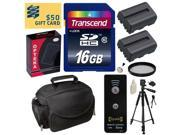 Beginner's Kit for Sony Alpha A230, A290, A330, A380, A390 includes 16GB SDHC Memory Card, 2 NP-FV50 Battery, Charger, Tripod, Gadget Bag, Wireless Shutter, 55MM UV Filter, Cleaning Kit, $50 Gift Card