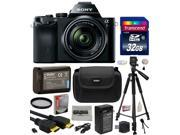 Sony a7K A7 Full-Frame DSLR 24.3 MP Interchangeable Digital Lens Camera with FE 28-70mm f/3.5-5.6 OSS Lens with 32GB Memory Card + NP-FW50 Battery + Tripod + Carrying Case + Cleaning Kit + $50 Card
