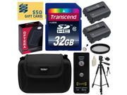 Beginner's Accessories Bundle Kit for Sony Alpha A230, A290, A330, A380, A390 includes 32GB Class 10 SDHC Memory Card + Pack of 2 Replacement (1500mAh) NP-FH50