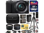 Sony NEX3 NEX-3 NEX3NL NEX-3NL/B Compact Mirrorless Interchangeable Lens Digital Camera with 16-50mm f/3.5-5.6 Lens (Black) with Professional Accessories Bundle