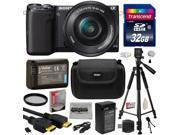 Sony NEX5 NEX-5 NEX-5T NEX5TL NEX-5TL/B Mirrorless Compact Interchangeable Lens Digital Camera with 16-50mm Power Zoom Lens (Black) with Must Have Accessories B