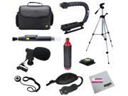 Opteka Videographers Deluxe Kit with Microphone, Case, Tripod, X-Grip and More for Canon, Nikon, Sony and Pentax Digital SLR Cameras