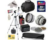 Ultimate Accessory Kit for Sony CX110, CX115, CX130, CX150, CX160, CX300, CX350, CX350V, CX360, CX360V, CX580, CX580V Video Camera Camcorder Includes - 32GB Hig