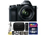 Sony a7K A7 Full-Frame DSLR 24.3 MP Interchangeable Digital Lens Camera FE 28-70mm f/3.5-5.6 OSS Lens with 8GB Memory Card + x2 NP-FW50 + Charger + Tripod + Carrying Case + Wireless Remote + $50 Card