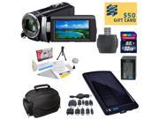 Sony HDR-PJ210 Digital HD Camcorder with Ultimate Accessory Kit - Includes 32GB High-Speed SDHC Memory Card + Card Reader + Replacment Sony FV100 4200mAh Batter