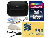 Best Value Kit for Sony includes includes 16GBHC Memory Card, Hard Shell Carrying Case, Camera Lens Cleaning Kit, Bonus $50 Gift Card for Digital Prints