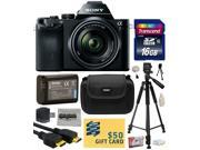 Sony a7K A7 Full-Frame DSLR 24.3 MP Interchangeable Digital Lens Camera with FE 28-70mm f/3.5-5.6 OSS Lens with Best Value Accessories Bundle Kit includes 16GB