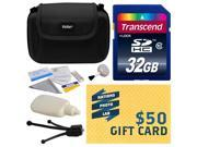 Best Value Kit for Sony NEX-3N, NEX3N, NEX 3NL, NEX-3NL, NEX3NL, NEX 5, NEX-5, NEX5, NEX 5N, NEX-5N, NEX5N, NEX 5R, includes 32GB SDHC Memory Card, Case, Cleaning Kit, $50 Gift Card