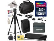 Must Have Kit for Canon VIXIA HFR52 HFR50 HFR500 HFR32 HFR30 HFR300 HFR42 HFR40 HFR400 HFR36 HFR306 HFR38 HFM50 HFM52 HFM56 HFM500 HFM506 Camcorder with 32GB SDHC Card + Case + Tripod + $50 Gift Card