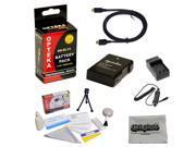 Replacement Battery Kit for Nikon D3100 D3200 D5100 D5200 COOLPIX P7100 P7700 Digital SLR Camera - Includes ENEL14 1800mAh Rechargable Battery, Rapid AC/DC Char