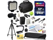 Advanced Accessory Kit for Canon HF R20 R21 R26 R27 R200 R205 R206 HFR20 HFR21 HFR26 HFR27 HFR200 HFR205 HFR206 Video Camera Camcorder Includes 64GB High Speed