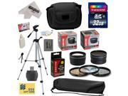 Ultimate Kit for Canon PowerShot SX50 HS SX50HS with 32GB SDHC Card, NB-10L Battery Pack, 67MM 0.43x Lens, 67MM 2.2x Lens, 67MM Adapter Ring, Carrying Case, Tripod, Cleaning Kit, $50 Gift Card