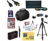Best Value Kit for Canon M Rebel SL1 Includes 16GB SDHC Card +  Battery + Charger + 3 Piece Pro Filter Kit + HDMI Cable + Gadget Bag +Tripod + Lens Pen + Cleaning Kit + DSLR DVD + $50 Gift Card + More