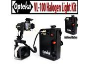 Opteka VL-100 100-Watt Professional Halogen Camcorder Video Light Kit with 12v Rechargeable Battery Pack for Sony AX200, FX1000, FX7, FX1, PD150, VX2000 and VX1