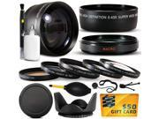 10 Piece Ultimate Lens Package For the Canon PowerShot GX1 Digital Camera Includes .43x High Definition II Wide Angle Panoramic Macro Fisheye Lens + 2.2x Extrem