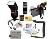 Power Zoom DSLR Wireless E-TTL Flash Kit for The Canon EOS 450D 500D 1000D T1i XSi XS Kiss F X2 X3 DSLR Digital Camera Includes Vivitar Series 1 DF-583 Power Zo