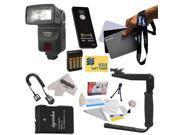 Bower SFD728 Autofocus TTL Flash Kit for The Nikon D3100, D3200, D5100, D5200, & D5300 Digital SLR Cameras Includes Bower SFD728 Autofocus TTL Flash + Balance R