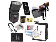 Dedicated E-TTL Speed Light Flash Kit for The Nikon Nikon D3100, D3200, D5100, D5200, & D5300 Digital SLR Cameras Includes Vivitar DF-293 TTL LCD Bounce Zoom Fl