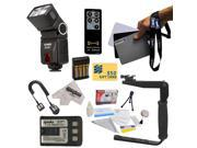 Bower SFD728 Autofocus TTL Flash Kit for the Canon XT XTi 350D 400D Kiss N X DSLR Digital Camera includes Bower SFD728 Autofocus TTL Flash + Balance Reference G
