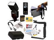 Power Zoom DSLR Wireless E-TTL Flash Kit for The Canon EOS 5D Mark 2 3 II III 5DM2 5DM3 6D 7D 60D 60Da 70D DSLR Digital Camera Includes Vivitar Series 1 DF-583