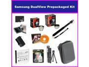 Opteka Supreme Accessory Package For The Samsung DualView TL225 TL220 TL90 Digital Camera Includes 16GB Micro SD Memory, Card Reader, SLB-07A Replacement Spare