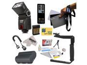 Bower SFD728 Autofocus TTL Flash Kit for the EOS Digital Rebel 1D 5D 10D 20D 30D 40D 50D 300D D30 D60 DSLR Digital Camera includes Bower SFD728 Autofocus TTL Fl