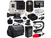 GoPro HD Hero3+ Hero 3+ Black Edition with 16GB MicroSD, Battery, Charger, European Adapter, Action Grip Handle, Case, HDMI Cable, Floating Strap, Tripod Adapter Mount, Cleaning Kit