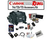Canon 200DG Digital Camera Gadget Bag Accessory Kit with Opteka LP-E8 LPE8 2000mAh Ultra High Capacity Li-ion Battery Pack, Opteka 16 GB SDHC High Speed Class 1
