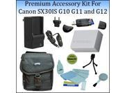 Image of Premium Accessory Kit For Canon SX30IS G10 G11 and G12 Digital Cameras