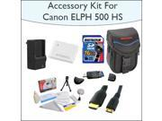 Advanced Accessory Kit With 16GB SDHC High Speed Memory Card, High Capacity NB-6L Replacement Battery, Vanguard Sydney-6B Compact Digital Camera Bag, 5 Foot Gol