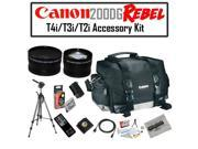 Canon 200DG Digital Camera Gadget Bag Accessory Kit with Opteka OPT-7000 Professional Photo / Video 70