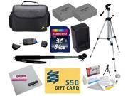 47th Street Photo Best Value Point & Shoot Ultimate Accessory Kit for Canon PowerShot G15 G16 G1 X Digital Camera Includes 2 Extended Replacement NB-10L Battery