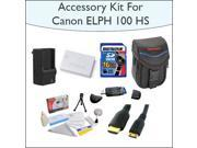 Advanced Accessory Kit With 16GB SDHC High Speed Memory Card, High Capacity NB-5L Replacement Battery, Vanguard Sydney-6B Compact Digital Camera Bag, 5 Foot Gol