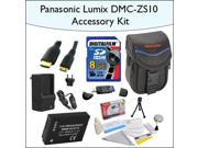 8GB Accessory Package for Panasonic DMC-ZS10 Including 8GB SDHC High Speed Memory Card, Vanguard Sydney-6B Compact Digital Camera Bag, Mini HDMI Cable, DMC-BCG1