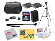 47th Street Photo Best Value Point & Shoot Ultimate Accessory Kit for Canon PowerShot SX170 IS SX280 IS S120 Digital Camera Includes 2 Extended Replacement NB-6