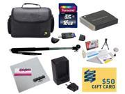 47th Street Photo Best Value Point & Shoot Essentials Accessory Kit for Canon PowerShot SX170 IS SX280 IS S120 Digital Camera Includes Extended Replacement NB-6