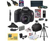 Canon EOS Rebel T3i DSLR Camera with EF-S 18-55mm f/3.5-5.6 IS STM Lens with 32GB SDHC Card, Battery, Charger, 3 PC Filter Kit, HDMI Cable, Gadget Bag, Remote Control, Tripod, Lens Cleaning Pen + More