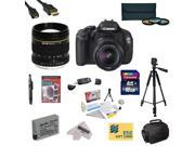 Canon EOS Rebel T3i 18.0 MP CMOS DSLR Camera with EF-S 18-55mm f/3.5-5.6 IS STM with Opteka 85mm f/1.8 Manual Focus Telephoto Lens, 16GB SDHC Card, Battery, Charger, 3 PC Filter Kit, HDMI Cable + More
