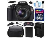 Canon EOS Rebel T3i 600D DSLR Digital Camera w/ 18-55mm Lens (64GB Value Bundle)