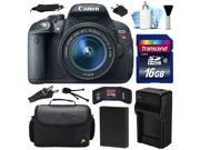 Canon EOS Rebel T5i 700D DSLR Digital Camera w/ 18-55mm Lens (16GB Value Bundle)