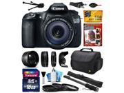 "Canon EOS 60D 18 MP CMOS Digital SLR Camera with 18-135mm f/3.5-5.6 IS UD Lens includes 16GB Memory + 2.2x + 0.43x Lens + Hood + UV-CPL-FL Filters + 67"" Monopod + Cleaning Kit + $50 Gift Card 4460B004"